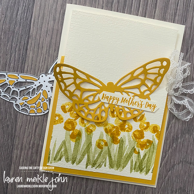 Mother's Day Card Featuring Abstract Impressions Stamp Set and Springtime Impressions Dies